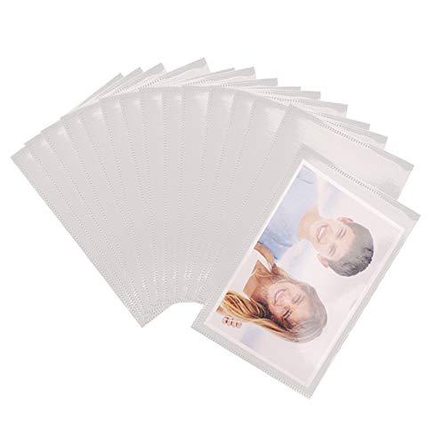 Gobesty Imanes de nevera para fotos, paquete de 15 imanes para marcos de fotos, marcos magnéticos para nevera, bolsillos transparentes para fotos familiares, trabajo de arte y diversión para niños