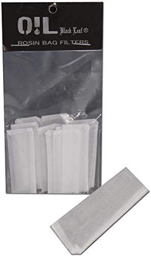 Black Leaf, 10 sacchetti filtro Oil Rosin Press Bag – dimensioni e larghezza maglie a scelta (50 x 20 mm, 30 µm)