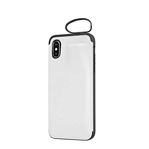 Qlaba Draadloze Bluetooth Headset Opslag Telefoonhoesje voor iPhone, For iPhone 8 7, Kleur: wit