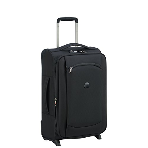 DELSEY Paris Montmartre Air Suitcase, 55 cm, 47 liters, Black (Noir)