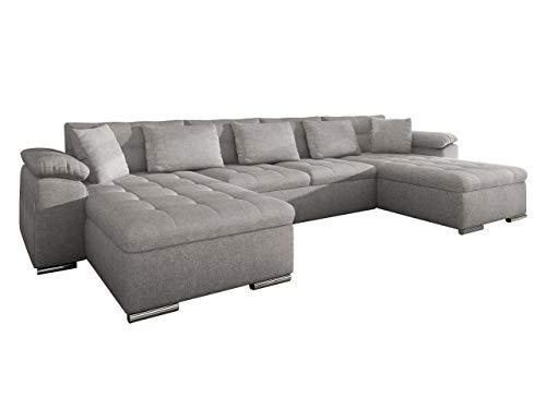 Ecksofa Wicenza! Design Big Sofa Eckcouch Couch! mit Schlaffunktion Bettfunktion! Wohnlandschaft! U-Form, Große...