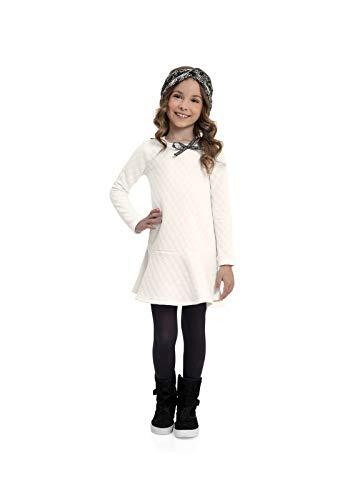 Vestido de Inverno Infantil Meninas Quimby, Off white, 08