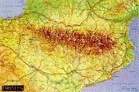 El mundo Pirineos / Mapa relieve Pirineos