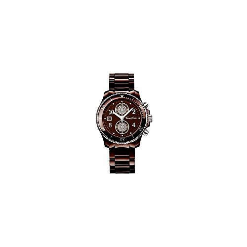 Thomas Sabo WA0093-238-205 Damen-Uhr It Girl Chronograph Quarz mit Leramik-Armband