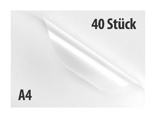 General Office Laminierpapier: 40 Laminiertaschen A4, Stärke 80mic (Super-Sparpack) (Lamenierfolie)