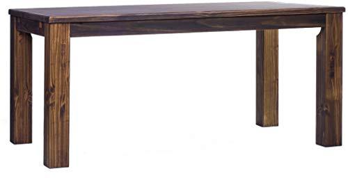 Brasilmöbel Esstisch Rio Classico 200x100 cm Eiche antik Massivholz Pinie Holz Esszimmertisch Echtholz Größe und Farbe wählbar ausziehbar vorgerichtet für Ansteckplatten