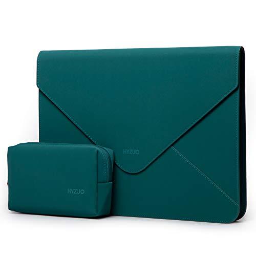 HYZUO 13-13,5 Pulgadas Funda Protectora para Portátiles Maletín de Bolsa Compatible con 13,3 Macbook Pro/MacBook Air/DELL XPS 13/12,9 iPad Pro/13,5 Surface Book/Laptop con Bolsa pequeña, Verde Oscuro