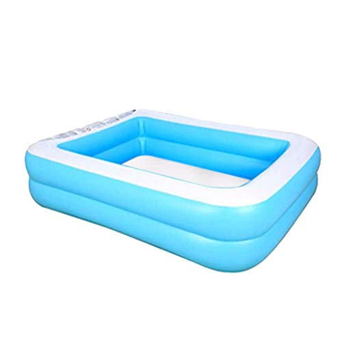 Yowablo Kinder Familie Inflation Pool Baby Ozean Ball Sand Pool Bad Spielzeug Platz (128x85x45cm,Blau)