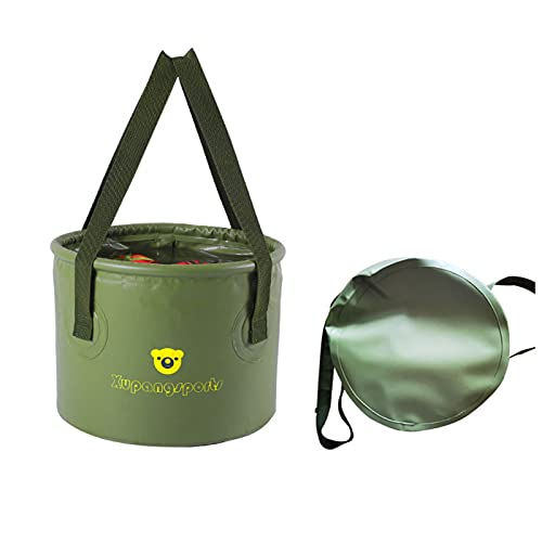 ZJJX Cubo plegable para camping, cubo de agua plegable, para viajes al aire libre, senderismo, portátil, almacenamiento de agua