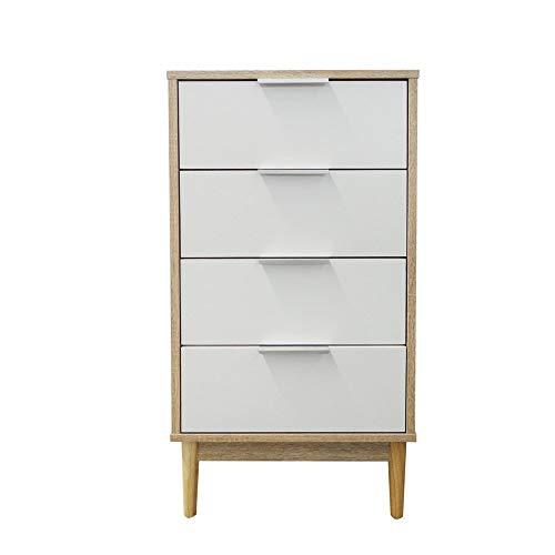 Style home Beistellschrank Kommode Mehrzweckschrank mit 4 Schubladen, Holz (43 x 39,5 x 84,5 cm)