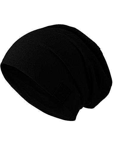 MSTRDS Unisex Erwachsene Jersey Beanie Strickmütze, Schwarz (Black 1138,4559), One Size (L/XL)