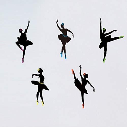 Xin Yao Store Pegatinas De Pared De Ballet Arte Zapatos De Baile...