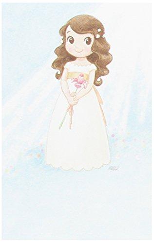 Mopec Estampa de Primera Comunión de niña con un Lirio, Pack de 25 Unidades, Cartulina, Multicolor, 0.02x8.00x12.50 cm