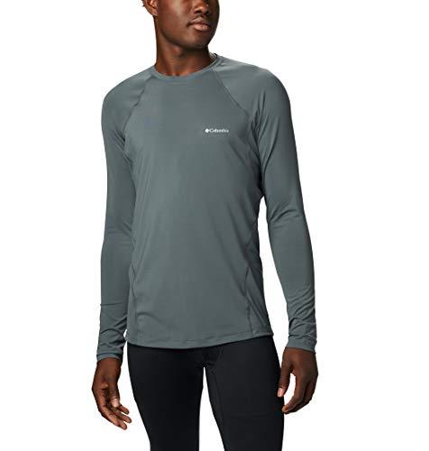 Columbia Midweight Stretch C Camiseta Térmica De Manga Larga, Hombre, Gris (Graphite), L