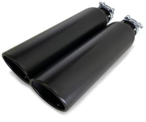 Colt Universal Truck Exhaust Tips (2.5' x 18' x 4', Black)