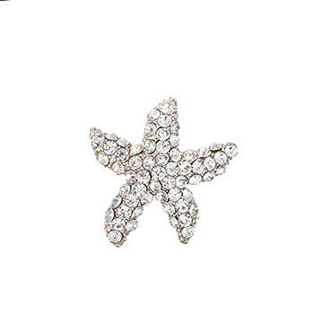 Pukido Diamond Painting 30mm Pearl Rhinestone Crystal Starfish Embellishment Flatback DIY Invitation 50pcs/lot  BTN-5716  -  Color  Rhinestone Rose Gold