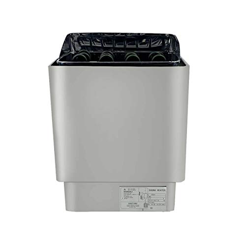 SUDEG 9KW Elektroherd Saunaofen Wandmontage 380V SPA Saunaofen Edelstahl mit Externer Steuerung Temperatur mit Außensteuerung Sondenkabel zur Temperaturerfassung