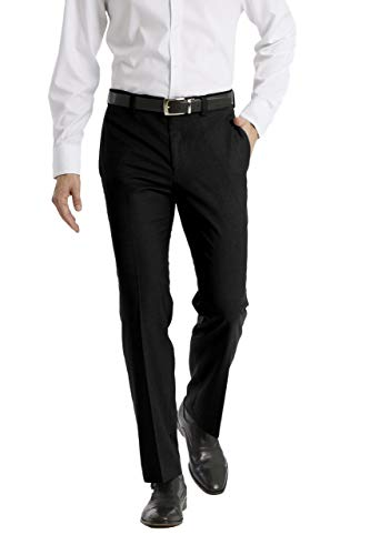 Calvin Klein Men's Modern Fit Dress Pant, Black, 33W x 32L