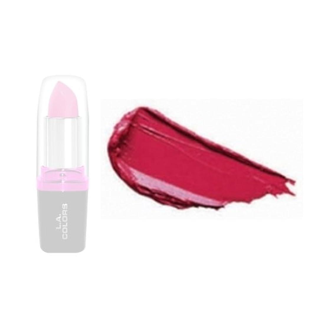 不従順男性贅沢な(3 Pack) LA Colors Hydrating Lipstick - Rouge (並行輸入品)