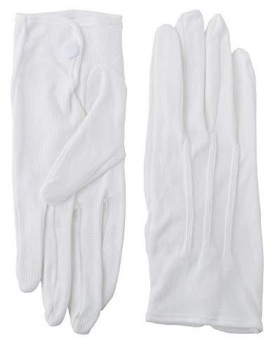 メンズ ハイブレス 滑り止め 綿 フォーマル 白 手袋 S M L コットン グローブ 1双 3双 セット から 選択 タクシー バス 運転手方 運転士 教習所教官 技術士 (LL (3双))