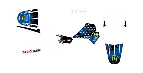 KIT Deco Motocross Yamaha PW 50 Splash Bleu