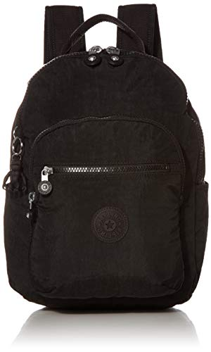 Kipling Women's Seoul Backpack, Black Noir, 10'L x 13.75'H 4.5'D