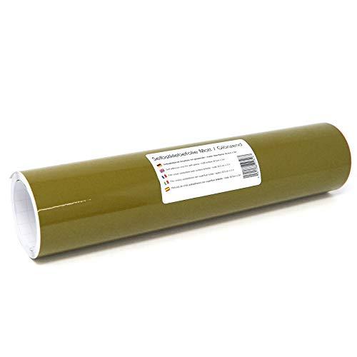 Finest Folia (12,89€/m² Selbstklebende Plotterfolie Bastelfolie 31cm x 3m 105 Farben Matt/Glänzend Möbelfolie Folie Bastelfolie zum Plotten (493 Olive, Matt)