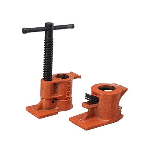 Abrazadera de tubo resistente de 3/4 pulgadas, abrazadera de tubo de hierro fundido de acero para carpintería, abrazadera de tubo de pegado de madera, accesorio de carpintero,Straight rod
