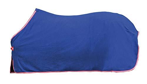 HKM Abschwitzdecke -Alaska-dunkelblau/rot/weiß/rot,Rückenlänge 135 cm