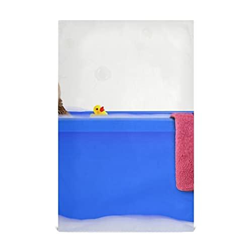HJHJJ Küchengeschirrtuch Set 4 Lustige Katze, die Bad nimmt Buntes Badewanne Küchentuch Groß28 '' x 18 '' Küchentücher, Geschirrtücher, dekorative Waffeltücher, Handtücher, Geschirrtücher