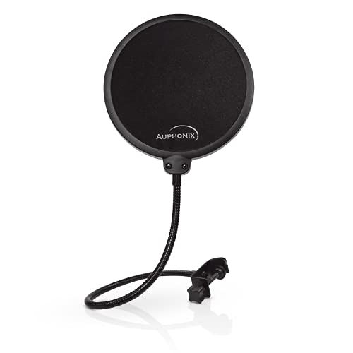 Auphonix Microphone Pop Filter (MPF-1) 6-inch Diameter With Double Mesh Filter...