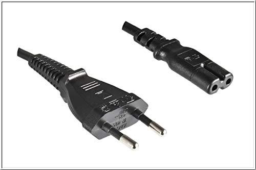 DINIC Stromkabel, Netzkabel Euro-Stecker auf C7, 0,50m kurz