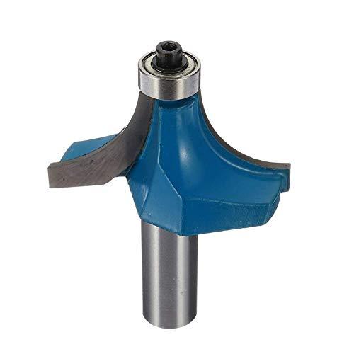 WY-YAN Perforar la caña 9/16 pulgadas Radio Ronda cortador Ranura Formando Router Bit carpintería fresa de 1/2 pulgada accesorios del taladro