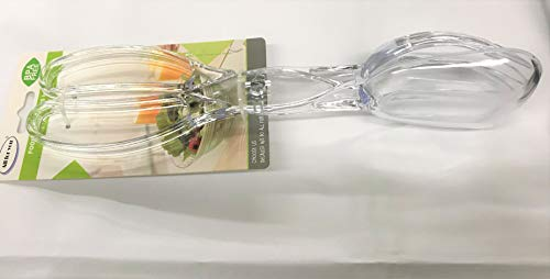 """All For You 11.25"""" Salad Tongs, Clear Acrylic Serving Tongs in BPA Free Plastic, Modern Salad Servers in Acrylic, Perfect Kitchen Tongs for Catering, Buffet, Parties"""