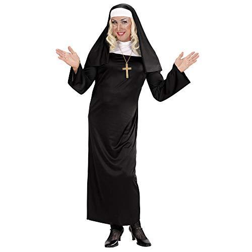 WIDMANN WDM01324 - Costume Per Adulti Suora, Nero, XL