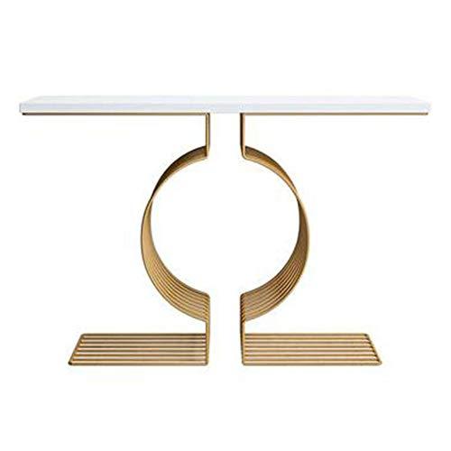 HANSHAN Tavolino Console Table, Semplice Veranda Gabinetto Appartamento Piccolo Ferro Battuto Soggiorno Solido Partizione Legno d'oro Cabinet Blu/Nero/Bianco 31 × 13 × 30 Pollici Supporto per Tabl