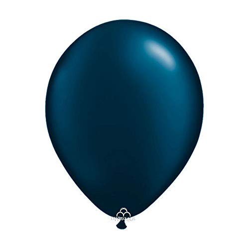 30 Count Latex Balloons Baby Shower, Birthday Party, Wedding Decoration(Grey&Burgundy&Navy Blue) (Navy Blue, 12 inch)