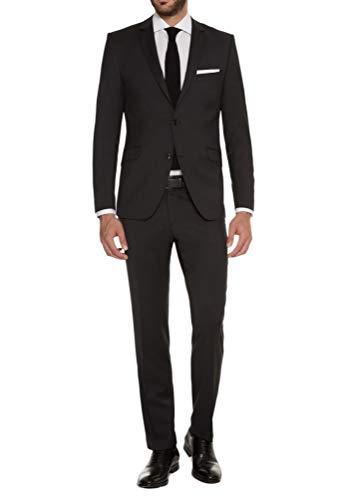 Lanificio Tessuti Italia - Fashion Fit - Herren Anzug aus Reiner Schurwolle, Marco F/Gio (1413 00), Farbe:Anthrazit(01), Größe:58