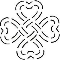 Quilting Creations Celtic Heart Knot Quilt Stencil