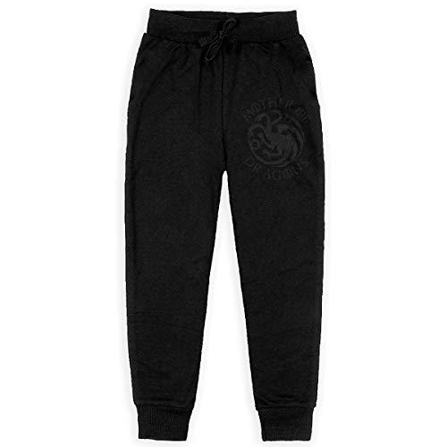 GongCZL Designed Trousers Game of Thrones Targaryen Dynasty Funny Pantalettes for Student Black M