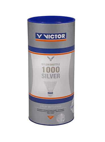 VICTOR Nylon Federball Shuttle 1000 3er Dose, Weiß / Blau