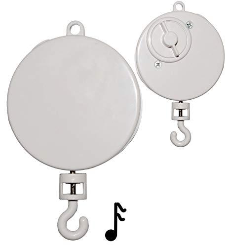 alles-meine.de GmbH Spieluhr / Spielwerk -  Wolfgang Amadeus Mozart - Wiegenlied - Lullaby  - z.B. Mobile & Traumfänger - drehend & zum Aufhängen - Musikbox - aus Kunststoff - ..