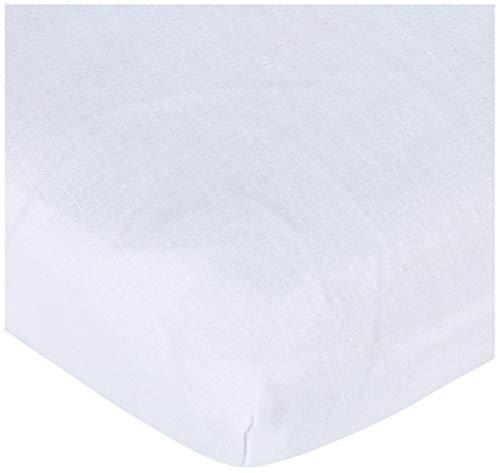 Pirulos Sábana Bajera Ajustable de Alta Calidad 100% Algodón para Maxi Cuna de 80 x 140 cm/Sábana Bajera Maxicuna Bebé Alta Calidad, Color Blanco