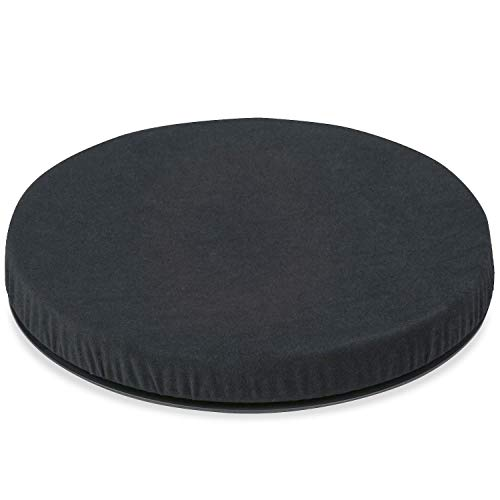 HealthSmart Swivel Seat Cushion assists with 360 degree turns to facilitate transitions to sitting or standing, Black, 15 Inches in Diameter