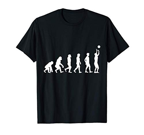 Volleyballer Geschenk Evolution Volleyball T-Shirt