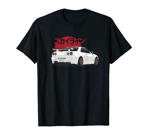 White r 34 JDM Skyline T-Shirt