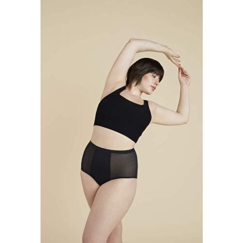 Thinx Hi-Waist Menstrual Underwear   Period Underwear for Women   Period Panties Black