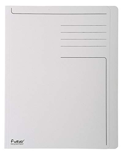 Exacompta 441019E - Lote de 100 Subcarpetas Forever® 280 Impresas y con Portada Más Estrecha, Color Gris