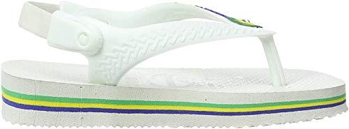 Havaianas HAV. Baby Brasil Logo, Tongs Mixte bébé, Blanc (Weiß 0001), 20