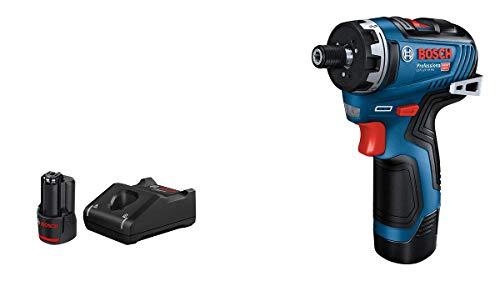 Bosch Professional 12V System GSR 12V-35 HX - Atornillador a batería (35 Nm, Ø máx. tornillo 10 mm, 2 baterías x 3.0Ah, en caja)
